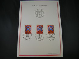 "BELG.1969 1496 FDC Filatelia Card :  "" NAVO-OTAN 1949-1969 "" - FDC"
