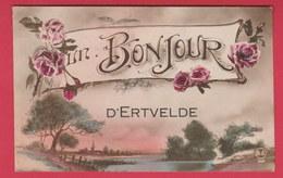 Ertvelde ... Un Bonjour  ....wenskaart- 1921 ( Verso Zien ) - Evergem