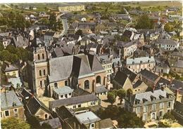 Cpsm Gf - 49 -   BAUGE -  Vue Aérienne -   L' église St Laurent     162 - Other Municipalities