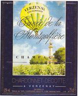 Etiquette Champagne Cuvée De La Montgolfière - CHARDONNET-DECOTTE à VERZENAY - Champagne