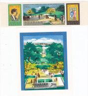 Sharjah,1966, Ann Kennddy Strip Of 3 Stamps + S.Sheet MNH Superb-SKRILL PAYMENT ONLY - Sharjah