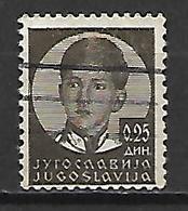YOUGOSLAVIE  -   1935 .  Y&T N° 277 Oblitéré.   Pierre II - 1931-1941 Royaume De Yougoslavie
