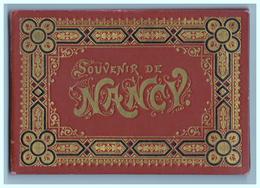 Vers 1900 - Petite Reliure En Percaline Estampée Avec 14 Vues De Nancy Format Cpa - FRANCO DE PORT - Nancy
