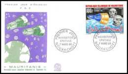 5006/ Espace (space) Lettre (cover) 7/3/1966 Fdc Gemini 6 Et 7 Stafford Schirra Mauritanie - Lettres & Documents