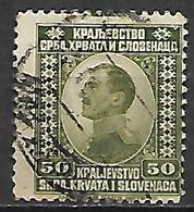 YOUGOSLAVIE  -   1921 .  Y&T N° 135 Oblitéré.   Alexandre  1er - Oblitérés
