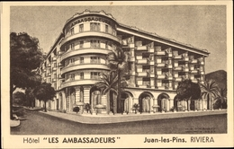 Cp Juan Les Pins Riviera Alpes Maritimes, Hotel Les Ambassadeurs - France