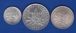 1920  3 Pieces  Arg  Sup - Francia