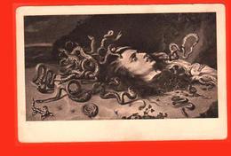 Gorgone Medusa Grèce Antique Mythologie Serpent Serpent Lézard Tuant La Peinture De La Tête - Grecia