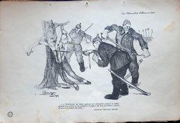 WACHERZEL  GRANDE GUERRE CARICATURE PROPAGANDE JEUNE GARCON SABRE DOMERGUE PEINTRE 1914/1918 - 1914-18