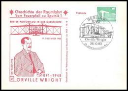 11672/ Espace (space Raumfahrt) Lettre Cover Wright Geschichte Der Spoutnik Sputnik Allemagne (germany DDR) - Covers & Documents