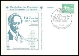 11673/ Espace (space Raumfahrt) Lettre Cover Zander Geschichte Der Spoutnik Sputnik Allemagne (germany DDR) - Covers & Documents