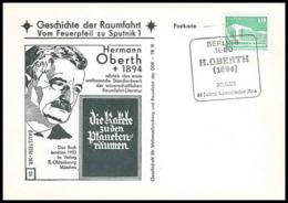11674/ Espace (space Raumfahrt) Lettre Cover Oberth Geschichte Der Spoutnik Sputnik Allemagne (germany DDR) - Covers & Documents