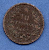 Italie -  10 Centesimi 1862 M  -  Km # 11.1  -  état  TB - 1861-1946 : Reino