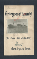 MILITARIA MARINE ALLEMANDE PHOTO ORIGINALE BATEAU DE GUERRE GRIEGSNSEIHNACHT 1943 ? : - 1939-45