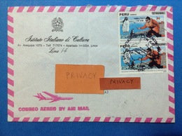 1992 PERU' LIMA BUSTA POSTAL HISTORY AIR MAIL - Perù