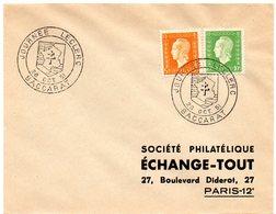 HERALDIQUE = 54 BACCARAT 1951 = CACHET TEMPORAIRE  Illustré D' ARMOIRIES 'JOURNEE LECLERC' - Marcophilie (Lettres)