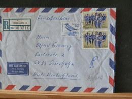 A9689A  LETTRE RECOMM.  ISLANDE 1985 - 1944-... Repubblica