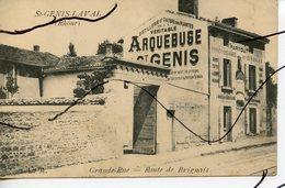 CPA .D69. Saint-Genis Laval . Grande Rue. Route De Brignais. ARQUEBUSE  . - Altri Comuni