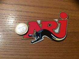 AUTOCOLLANT, Sticker T1 « NRJ » (radio, Panthère) - Pegatinas