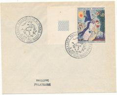 Lettre Avec Cachet De Vence Exposition Sur Chagall En 1963 - FDC