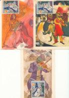 Lot De 6 Cartes Œuvres De  Chagall Vence 1963 - Art