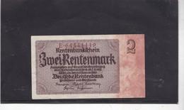 Rentenbankfchein  Zwei Rentenmark , 1937 - [ 4] 1933-1945 : Troisième Reich