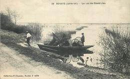 44 BOUAYE. Lac De Grand Lieu Avec Pêcheurs De Crabes, Ecrevisses Et Anguilles. Métiers De La Mer - Bouaye