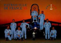 PATROUILLE DE FRANCE 93....CPM ANIMEE - Aviateurs
