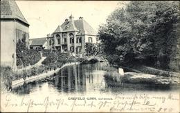 Cp Krefeld Linn Am Niederrhein, Blick Auf Das Gutshaus, Gewässer - Deutschland