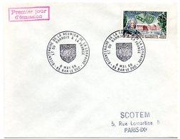 HERALDIQUE = 55 BAR Le DUC 1966 = CACHET PREMIER JOUR / FDC ' BICENTENAIRE REUNION LORRAINE & BARROIS' N° Yvt 1483 - 1960-1969