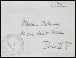 52474 Meuse Vaucouleurs Ducey Hopital Medecin Chef Sante Guerre 1914/1918 War Devant De Lettre Front Cover - Guerre De 1914-18