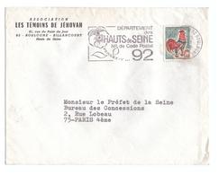 1968 - Lattre à Entête - Boulogne-Billancourt (Hauts-de-Seine) - Association Les Témoins De Jéhovah - FRANCO DE PORT - Ohne Zuordnung