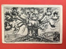 1910 - STAMBOOM KONINKLIJKE FAMILIE BELGIE - ARBRE GENEALOGIQUE DE LA DYNASTIE BELGE - Familles Royales