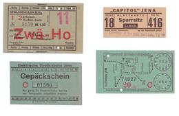 Vers 1942 - Iéna (Jena Thüringen Deutschland) - Tickets De Transport - FRANCO DE PORT - Autres