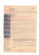 Orthez. Document Et Timbres Fiscaux. Ladeveze Huissier A Orthez. - Revenue Stamps