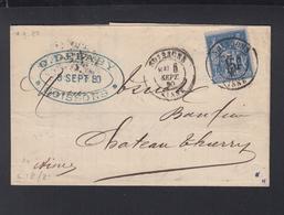 France Lettre 1880 Soissons - Poststempel (Briefe)