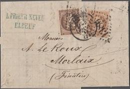 France 1872 Lettre N° 47 Et 31 GC 1386 Elboeuf CàD - 1849-1876: Période Classique