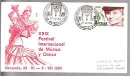 N 32) Spanien 1980 SSt Granada: Musik Und Tanz - Musik