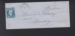 France Lettre 1859 Nogent-sur-Vernisson - Poststempel (Briefe)