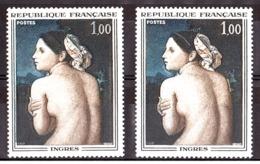 """N° 1530 - Sans Bandeau +  """"bleu à L'omoplate"""" - Neuf ** - La Baigneuse - Ingres - Variétés: 1960-69 Neufs"""