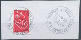 France - Marianne De Lamouche ITVF Type I - YT A 49a (3744a) Obl. Cachet Rond Sur Fragment - Adhésifs (autocollants)