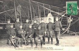 10 ESCADRILLE AERIENNE DU CAMP DE MAILLY LES OFFICIERS PILOTES ET LE 1er COURS DES OFFICIERS D'ETAT MAJOR - Aviatori