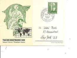 Suisse - Journée Du Timbre ( Carte Commémorative De 1939 à Voir) - Storia Postale