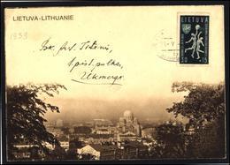 LITHUANIA Postal History Brief Beleg Cover 035 KAUNAS Special Cancellation Basketball - Litauen