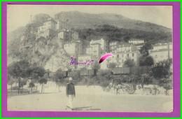 CPA (MONACO) - MONTE CARLO - La Frontière Avec Un Garde - Monaco