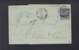 France Lettre 1883 Boulogne Sur Mer - Poststempel (Briefe)
