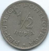 India - Portuguese - 1947 -½ Rupia - KM26 - India