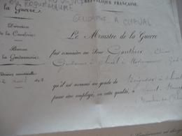 Militaire Militaria Nomination Gauthier Saint Rémy De Provence Brigadier à Cheval Gendarmerie 1894 - Documents