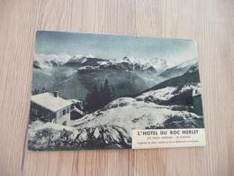 Pub Publicité 3 Volets L'Hôtel Du Roc Merlet Courchevel Savoie Tarantaise - Publicidad