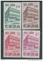 Vietnam Du Sud N° 192  / 95 XX  Inauguration De L'hotel Des Chèques Postaux De Saïgon. Les 4 Valeurs Sans Charnière  TB - Viêt-Nam